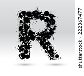 letter r formed by black and...   Shutterstock .eps vector #222367477