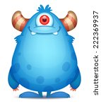 cute cartoon monster | Shutterstock .eps vector #222369937