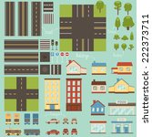 city design elements | Shutterstock .eps vector #222373711