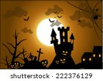halloween ilustration | Shutterstock . vector #222376129