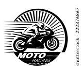 Motorcycle Racer. Vector...