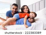 happy family enjoying the... | Shutterstock . vector #222383389