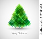 abstract christmas tree made of ... | Shutterstock .eps vector #222385684