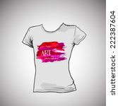 t shirt design with artistic... | Shutterstock .eps vector #222387604