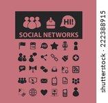 social media  networks black...