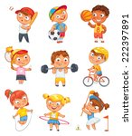 sports and fitness. skipping... | Shutterstock .eps vector #222397891