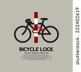 Bicycle Lock Pole Vector...