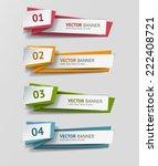 vector infographic origami... | Shutterstock .eps vector #222408721