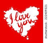 i love you  heart red...   Shutterstock .eps vector #222409321