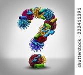 disease questions medical... | Shutterstock . vector #222411391