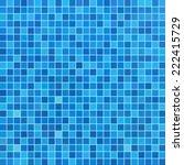 blue ceramic tile mosaic in... | Shutterstock .eps vector #222415729