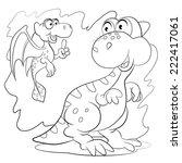 two cartoon amusing little... | Shutterstock .eps vector #222417061