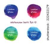 watercolor vector hand drawn... | Shutterstock .eps vector #222422179