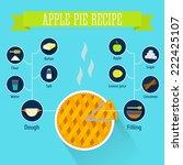apple pie recipe  infographics | Shutterstock .eps vector #222425107