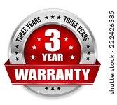 red three year warranty badge...