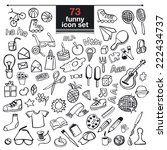 funny vector objects set. | Shutterstock .eps vector #222434737