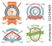 4 colorful logos and placards... | Shutterstock .eps vector #222434839