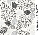monochrome seamless pattern...   Shutterstock .eps vector #222438751