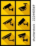 video surveillance  set yellow... | Shutterstock .eps vector #222440569