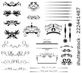 calligraphic design vector set | Shutterstock .eps vector #222441487