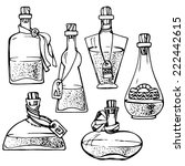 different vials and bottles....   Shutterstock .eps vector #222442615