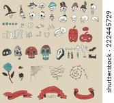 big halloween elements set.... | Shutterstock .eps vector #222445729