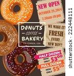 donuts shop poster vector   Shutterstock .eps vector #222448111