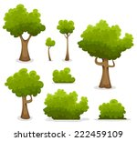 forest trees  hedges and bush... | Shutterstock .eps vector #222459109