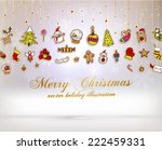 christmas set of icons  labels... | Shutterstock .eps vector #222459331