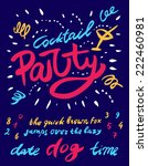 party poster template with all... | Shutterstock .eps vector #222460981