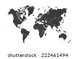 a map of the world with a... | Shutterstock .eps vector #222461494