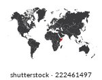 a map of the world with a... | Shutterstock .eps vector #222461497