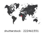 a map of the world with a... | Shutterstock .eps vector #222461551
