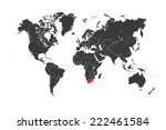 a map of the world with a... | Shutterstock .eps vector #222461584