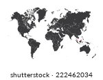 a map of the world with a... | Shutterstock .eps vector #222462034