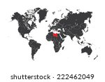 a map of the world with a... | Shutterstock .eps vector #222462049