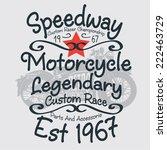 speedway  motorcycle graphic  ... | Shutterstock .eps vector #222463729