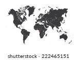 a map of the world with a... | Shutterstock .eps vector #222465151