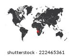 a map of the world with a... | Shutterstock .eps vector #222465361