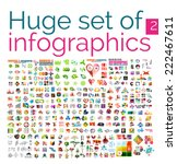 huge mega set of infographic... | Shutterstock .eps vector #222467611
