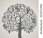 money tree. vector illustration  | Shutterstock .eps vector #222471481