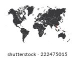 a map of the world with a... | Shutterstock . vector #222475015