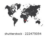 a map of the world with a... | Shutterstock . vector #222475054