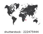 a map of the world with a... | Shutterstock . vector #222475444