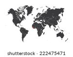 a map of the world with a... | Shutterstock . vector #222475471