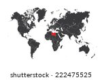 a map of the world with a... | Shutterstock . vector #222475525
