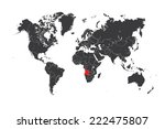 a map of the world with a... | Shutterstock . vector #222475807