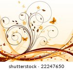 autumn abstract vector floral... | Shutterstock .eps vector #22247650