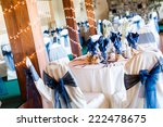 banquet hall decorated for... | Shutterstock . vector #222478675