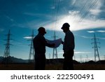 silhouette of two engineers... | Shutterstock . vector #222500491